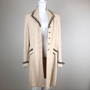 St. John Vintage Knit Sweater Duster Dress Coat